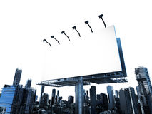 Blank billboard with buildings Stock Image