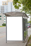 Blank billboard on bus stop. For your advertising royalty free stock photography