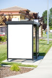 Blank Billboard at Bus Stop Royalty Free Stock Images