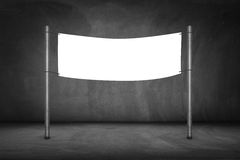 Blank billboard. On a bus stop-clipping path of billboard included Royalty Free Stock Images