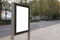 Blank billboard in bus stop Stock Image