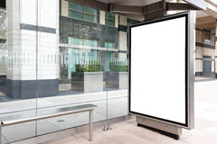 Blank billboard in bus stop. Great copy space for your design, shot in London, United Kingdom, uk royalty free stock image