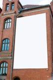 Blank billboard canvas on brick wall Royalty Free Stock Photography