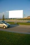 Blank billboard and car royalty free stock photo