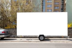 Blank billboard car trailer royalty free stock images