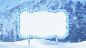 Blank billboard and christmas landscape Royalty Free Stock Image