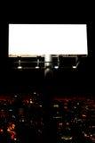 Blank billboard and city. Lights Stock Photos