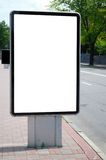 Blank billboard in city. Near the road royalty free stock image
