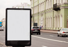 Blank billboard at city Royalty Free Stock Image