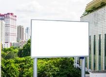 Blank billboard. At the city Royalty Free Stock Photos