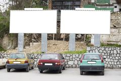 Blank billboard in city Stock Photos