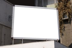 Blank billboard in city Stock Photos