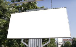 Blank billboard in city Stock Images