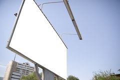 Blank billboard in city Royalty Free Stock Photo