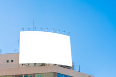.Blank billboard in city. Blank billboard in city Stock Image