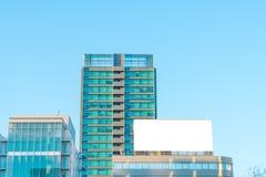.Blank billboard in city Stock Photography