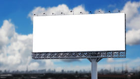 Blank billboard in the city. With blue sky royalty free stock photos