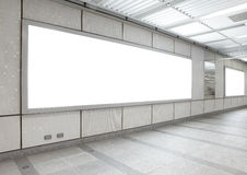 Blank billboard in the city building Royalty Free Stock Photography