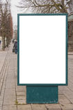 Blank Billboard in City Centre Royalty Free Stock Images