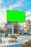 Blank billboard on City Stock Photos