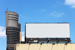 Blank Billboard in City Downtown Royalty Free Stock Images