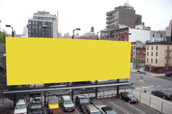 Blank billboard in a city Stock Images
