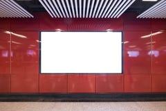 Blank billboard in the city stock photos