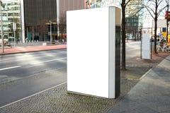 Blank billboard in city Stock Image