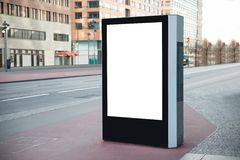 Blank billboard in city Stock Photo