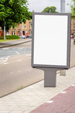 Blank Billboard on a City Road Stock Images
