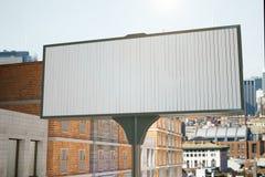 Blank billboard at city street background Stock Photo