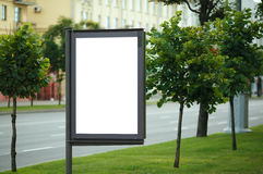 Blank Billboard on City Street Royalty Free Stock Photo