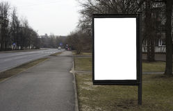 Blank billboard on the city street Stock Photography