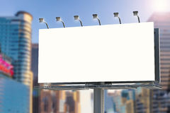 Blank billboard with cityscape background Stock Photography