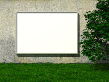 Blank billboard on concrete wall Royalty Free Stock Photo