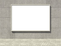 Blank billboard on concrete wall Royalty Free Stock Images