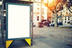 Blank billboard with copy space area for your text message or promotional content, public information board on the street, Royalty Free Stock Photography