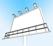 Blank Billboard Copy space Shows Advertising Space Royalty Free Stock Images