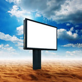 Blank billboard in desert land Royalty Free Stock Image