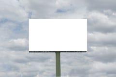Blank billboard. Empty blank billboard with sky Stock Images