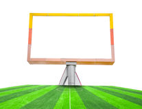 Blank billboard on field soccer. Royalty Free Stock Images