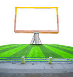 Blank billboard on field soccer. Stock Photography