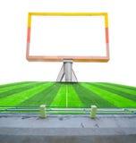 Blank billboard on field soccer. Stock Photography