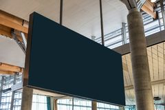 Blank billboard flight information hanging in the airport. Blank large billboard flight information hanging in the airport royalty free stock image