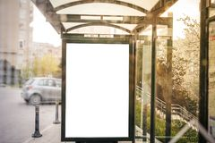 Billboard at the bus station Royalty Free Stock Photos