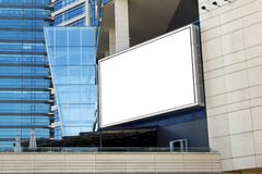 Blank billboard in front of building royalty free stock images