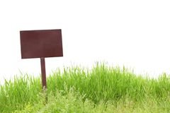 Blank billboard on green grass Royalty Free Stock Photos
