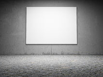Blank billboard on a grungy concrete wall Royalty Free Stock Photos