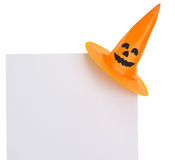 Blank billboard with Halloween hat Stock Image