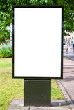 Blank billboard Halmstad 01 Royalty Free Stock Images